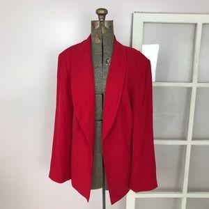 Calvin Klein Red Open Blazer
